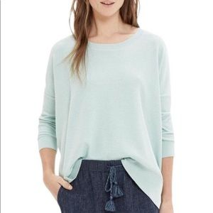 Madewell Knit High/Low mint sweater